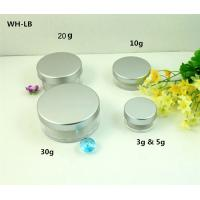 Buy cheap empty 3g 5g 10g 20g 30g  plastic  cosmetic jars with tin aluminum  lid from wholesalers