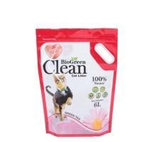 Buy cheap Customized Printing Stand Up Eco-Friendly  PE  Food Pacaking Bag For Cat Litter with Hanger from wholesalers