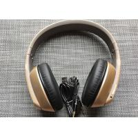 Buy cheap Golden Bluetooth Headphones Noise Cancelling Over Ear  For Children / Adults from wholesalers