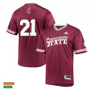 Wholesale Mens Mississippi State Bulldogs Custom Hunter Renfroe Will Clark Adam Frazier Chris Stratton Maroon Baseball Jersey from china suppliers