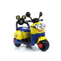 Wholesale Small Yellow Childrens Electric Ride On Cars / Baby Electric Motorcycle from china suppliers