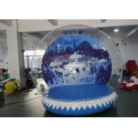 Wholesale 0.6mm PVC Tarpaulin Inflatable Christmas Snow Globes 3m Hot Air Welding from china suppliers