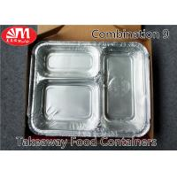 Buy cheap 3 Compartments Aluminium Foil Takeaway Food Containers Foods Packing Useage from wholesalers