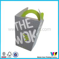 Rectangle Square Logo Printed Take Away Party Food Packaging Boxes With Handle Manufactures