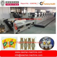 Buy cheap 825MM Web Width Paper Bag Flexo Printing Machine With Gear Box Driving from wholesalers