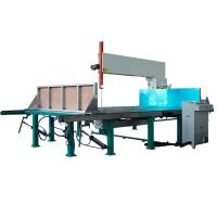 Buy cheap D&T Vertical Cutting Machine Sponge Mattress Eps Foam Cutting Machine with leaner guide from wholesalers