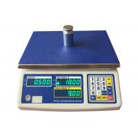 Buy cheap AC / DC Digital Weight Scale 3kg - 30kg Digital Price Computing Scale With Green LED from wholesalers