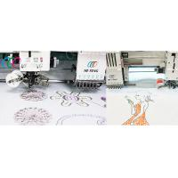 2 Heads 6 Needles Coiling / Taping Embroidery Machine , Computerized Operation Manufactures