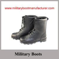 Buy cheap Wholesale China Made Black Genuine Leather Military Combat Boot with Panama Outsole from wholesalers