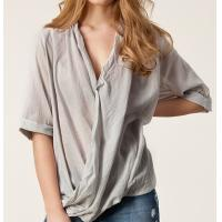 Buy cheap Womens Shirts Blouses Half Sleeve Wrap Blouse / Shirts V- Neck from wholesalers