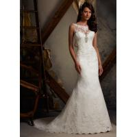 Wholesale 2013 White/Ivory Lace Mermaid Floor Length Wedding Dress Custom Size from china suppliers