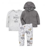 Buy cheap Boy 3 Pcs Baby Clothes Set Print Animal Baby Clothes Pants And Hooded Top from wholesalers