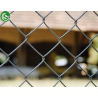 Buy cheap 8ft wire mesh fencing PVC coated black used chain link fence for sale from wholesalers
