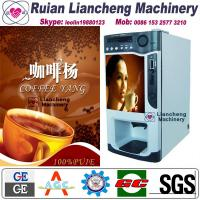 Buy cheap tea coffee premix vending machine Bimetallic raw material 3/1 microcomputer Automatic Drip coin operated instant from wholesalers