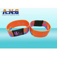 Buy cheap Mifare 1k Printing elastic fabric rfid wristband bracelet for waterpark from wholesalers
