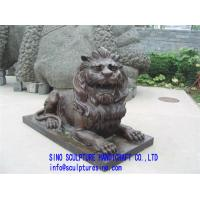 Wholesale Black marble lion Stone Carving from china suppliers