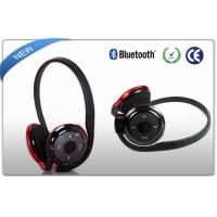 Buy cheap Black Neckband Bluetooth Sport Headphones MP3 Player SD Card Slot from wholesalers