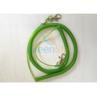 Buy cheap Custom Green Wire Fishing Rod Safety Leash Tethers With Thumb Triggers Extended 8M from wholesalers