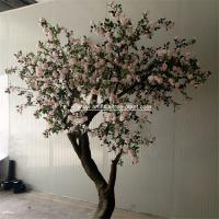 Wholesale Pink Standard Rose Artificial Flower Tree 2m Height Environmental Protection from china suppliers