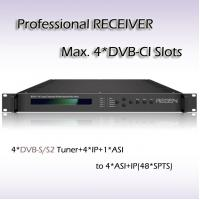 Buy cheap Digital TV IPTV system Headend Four-Channel Professional Receiver with CI slot RSR1114 from wholesalers