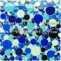 Wholesale Blue Round Mixed Freedom Size Crystal Mosaic Tile from china suppliers