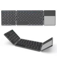 Wholesale Portable Foldable Bluetooth Touchpad Keyboard for ipad ios 13.0 Android Windows Folding keyboard from china suppliers