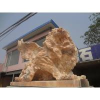 Wholesale marble lion statue with wings from china suppliers