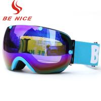 China Durable Ski Snowboard Goggles / Cool Snowboard Goggles Protective Safety Skiing Eyewear Glasses on sale