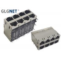 Buy cheap GLGNET 8 Ports 10Gbase-T Right Angle Ethernet Jack from wholesalers