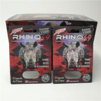 Buy cheap Custom RHINO 96 Pill Blister Pack Packaging 3D Lenticular Card Eco - Friendly from wholesalers