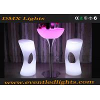 Muti Colors Changable Led Light Stool Outdoor / Indoor With Remote Control , Plastic Materials Manufactures