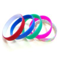 Wholesale Custom Dual UV silicone bracelets wristband from china suppliers