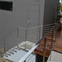 Buy cheap Galvanized steel deck railing with 4mm wire rope design from wholesalers