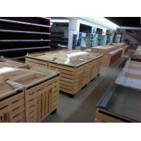 Buy cheap Supermarket accessories wood, pine wood pile head with Acrylic circular plate from wholesalers