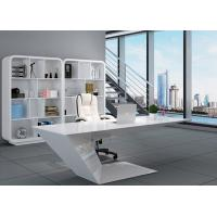 Buy cheap Elegant Manager Office Furniture Creative Special Shape With White Baking Paint from wholesalers