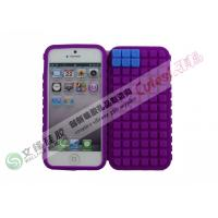 Wholesale Water-proof Anti-Slip iPhone 5 Silicone Cases with Mini DIY Puzzle from china suppliers