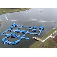 Buy cheap 0.9mm Plato PVC Tarpaulin Giant Inflatable Water Parks , Wave Island Aqua Sport Park 65 Parts from wholesalers