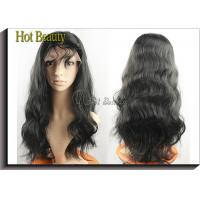 Buy cheap Virgin Human Hair Full Head Lace Wigs With Baby Hair , Natural Hairline Human Lace Wigs from wholesalers