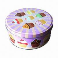 Buy cheap Graduation Cookie Tin, Personalized with 2 Lines of 22 Characters/Spaces/Line from wholesalers