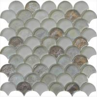 Silver sector series water waving glass mosaic Manufactures