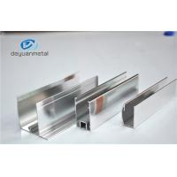 Buy cheap Shower Enclosures Mirror Surface Extruded Aluminium Profiles With Color Silver from wholesalers