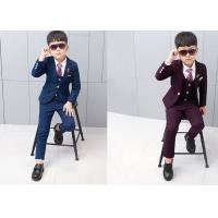 Buy cheap Luxury Navy Blue Ring Bearer Outfit , Anti Static Ring Bearer Outfits Shorts from wholesalers