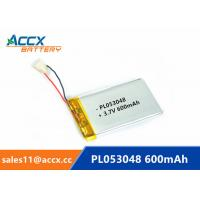Wholesale 053048pl 503048 3.7v lithium polymer battery with 600mAh rechargeable li-ion battery for GPS, bluetooth speaker from china suppliers