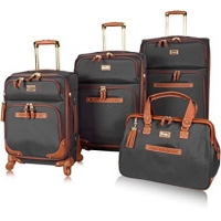 Wholesale Expandable 4 Piece Spinner Luggage Set With Reinforced Handle from china suppliers