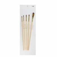 Buy cheap 205mm Transparent Brown Nylon double colors Artist Paint Brushes Set from wholesalers