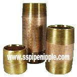 Buy cheap High Performance Brass Pipe Nipple For  Construction Commercial Plumbing from wholesalers