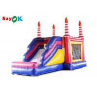 Buy cheap Kids Inflatable Bouncers With Slide Birthday Bounce House For Entertainment from wholesalers
