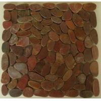 Buy cheap Red pebble stone saw-cut from wholesalers