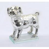Buy cheap Polished Silver Poly Resin Dog Figurines / Customized Size Modern Resin Dog Statue from wholesalers