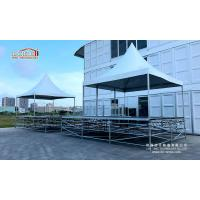 Wholesale Summer square pagoda tent 5x5m with scaffold truss structure and handrail for outdoor event party from china suppliers